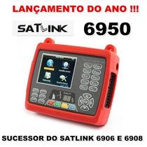 Satlink Ws-6950 Finder Dvb-s2 Localizador Satélite Digital