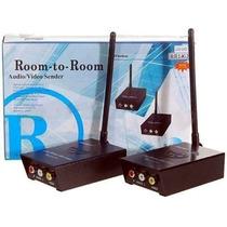 Transmissor Receptor Audio Video Profissional Sem Fio 2.4ghz
