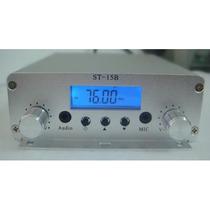 Transmissor De Fm 15 Watts Kit Completo N 0v0 Envio Imediato
