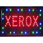 Placa Quadro Led Letreiro Luminoso Painel Xerox 48x25cm