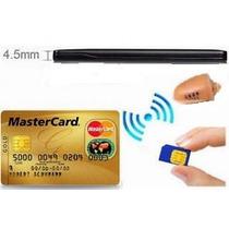 Micro Ponto Eletronico (fone) Invisivel C/ Cartão Gsm Espião