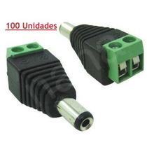 Conector P4 Macho Com Borne -- Pacote Com 100 Unidades