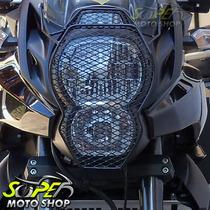 Protetor Farol Principal Preto Motopoint Versys 650 Kawasaki