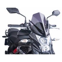 Bolha Fume Escura Naked Kawasaki Er-6n Er6n Er 6n