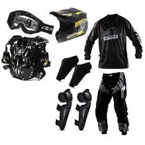 Kit Equipamento Insane Pro Tork 7 Itens Motocross + Brinde
