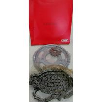 Kit Relação Completa Cbx 250 Twister Aço 1045 Vaz/riffel