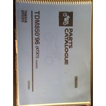 Catálogo De Peças Original Yamaha Tdm 850 Ano 96