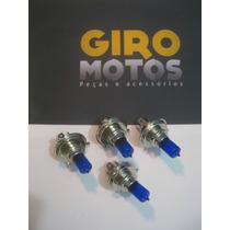 Lampâda Farol Moto Efeito Xenon Cb Titan Fan Ybr Cbx Azul