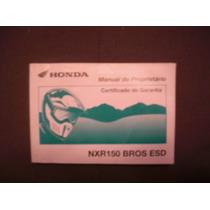 Honda Bros Esd 2003 Manual Do Proprietário Original