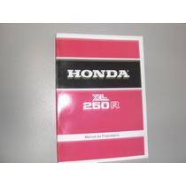 Honda Xl 250 R 82 83 Manual Do Proprietário Reimpresso