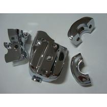 Acessório P/ Harley - Kit Cromo Guidon/cilindro Freio Softai