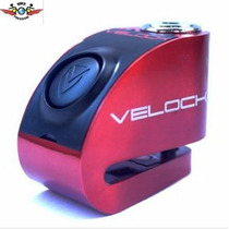 Trava De Disco Com Alarme Velock Para Motos
