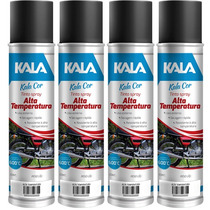 Tinta Spraypreto Fosco E Aluminioalta Temperatura600°