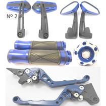 Kit Retrovisor Manopla Manete Cg Titan Cb300 Xre Fazer Xtz
