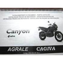Catalogo Manual Peças De Reposição Moto Cagiva Canyon