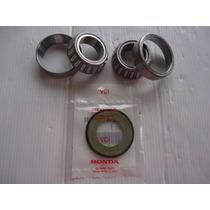 Kit Rolamento Caixa Direção Honda Crf230 + Retentor Inferior