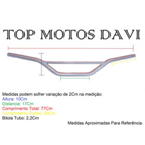 Guidão Moto Honda Xre 300 Prata Sem Fixa Peso - 1610