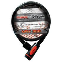 Cadeado Trava Espiral Max300 Corrente Moto, Estepe