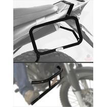 Kit Xre300 Afastador Alforge + Protetor Motor Com Pedaleira
