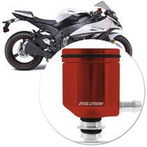 Reservatorio Oleo Moto Esportivo Dianteiro Aluminio Vermelho