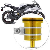 Reservatorio Oleo Esportivo Moto Traseiro Aluminio Dourado