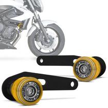 Slider Xj6 Dianteiro Moto Yamaha Racing Evolution Dourado