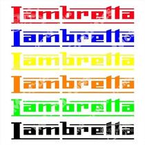 Emblema Adesivo Lambretta Lambrecar Vespa Piaggio Ld Li