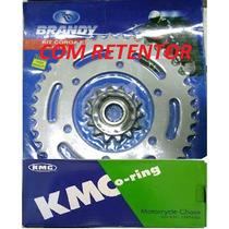 Relação Comet 650 Coroa/pinhão Brandy Corrente Kmc C/ Reten