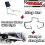 Kit Protetor Motor + Sissy Bar + Escape Esportivo Kansas 150