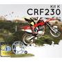 Kit Transm K Crf230(corrente C/ret Dourada+coroa+ Pinhao)