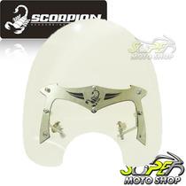Bolha Para-brisa Scorpion Harley P/ Guidão 1 Polegada Crist