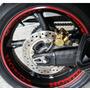 Kit Moto Honda 16 Adesivos Roda + Friso Refletivo Curvo 7mm