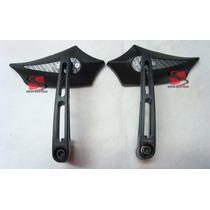 Espelho Retrovisor Sport Preto / Carbono Universal Cod(5081)