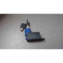 Trava De Disco Pequena Para Moto Com Chaves - Azul