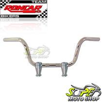 Guidão Roncar Mod Conforto Taças C/ Riser Cromado Shadow 600