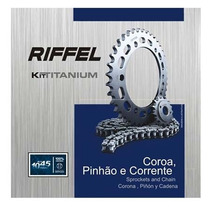 Kit Relação Transmissão Riffel Honda Nxr 150 Bros