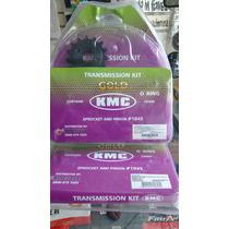 Kit Relação Kmc C/retentor Nx 400 Falcon - Aço1045