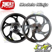 Roda Dianteira Traseira Mod Ninja Cg 150 Titan Fan .13 Disco