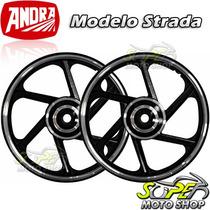 Rodas Dianteira Traseira Md Strada-cg 125 Titan Fan 00/08 Ks