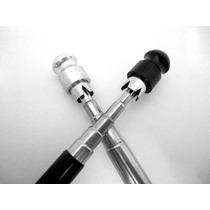 Antena Corta Pipa Anti Cerol Inox 6 Estágios Moto Jojafer