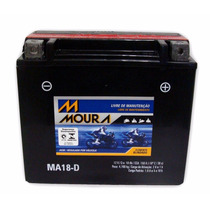 Bateria Moto Moura Ma18d Ytx20lbs Harley Dyna Softail Fatboy