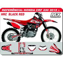 Adesivos-crf 230 2015 - Hrc Black Red - Qualidade 3m