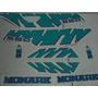 Jogo De Faixa Mobilete Monark S50 (modelo Novo) Verde