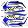Jogo Kit Adesivo Yamaha Ybr125 2000 Verde + Brinde
