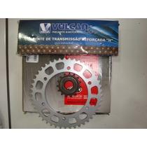 Kit De Relação Transmissão Para Fazer250 Yamaha Aço 1045