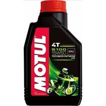 Kit C/2 Lts Oleo Motor Motul 5100 15w50 Moto 4t Semi-sintét