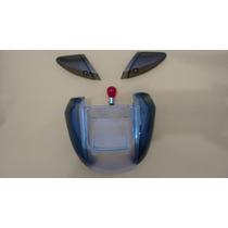 Lente Pisca Seta Lanterna Biz 100 + Lampada Vermelha