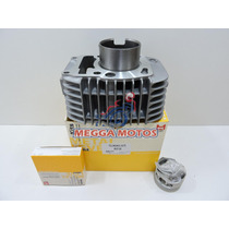 Kit Motor Cilindro/pistão/anel Honda Biz-125 Metal Leve Novo