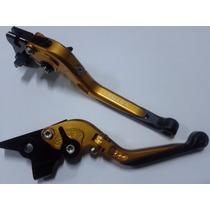 Manete Esportivo Expansível Dourado Yamaha Xj6 - Armada