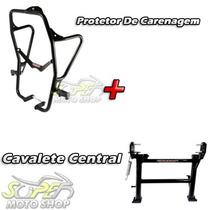 Kit Protetor De Carenagem + Cavalete Chapam Tenere 250 Todas